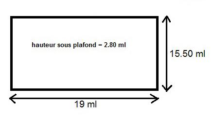 Dimensions de la Salle de l'Epinoy